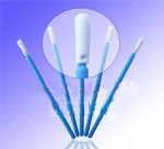 "3"" Blue Handle Foam Swab"